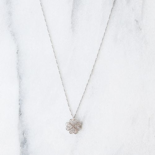 "Filirose ""Sofia Silver Necklace"" - Minimalistic, elegant fine jewelry with Portuguese filigree"
