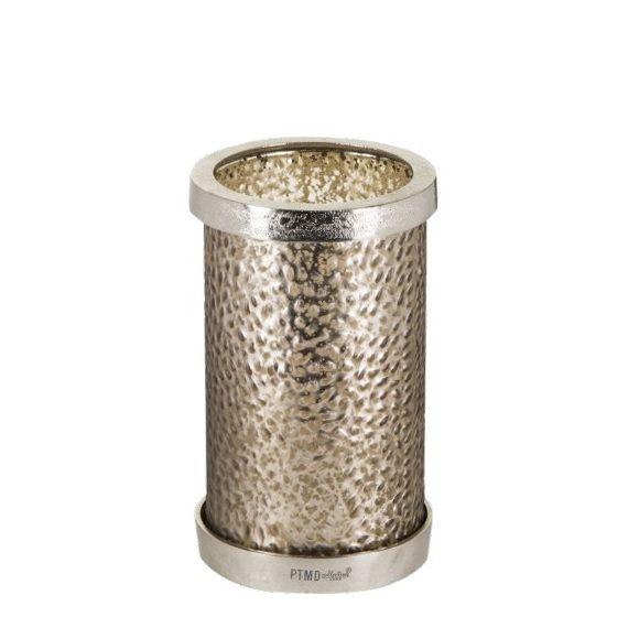 Wick grey - ljuslykta i glas (Ø12,5 x 21cm)