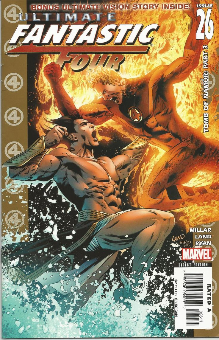ULTIMATE FANTASTIC FOUR/TOMB OF NAMOR.PART.3/NR.26/2006  FIRST PRINTING, CONDITION-MINT 9.8/PRIMA EDITIE, CONDITIE- MINT 9.8 #comics #marvel #fantastic #four #tomb #namor #collectable