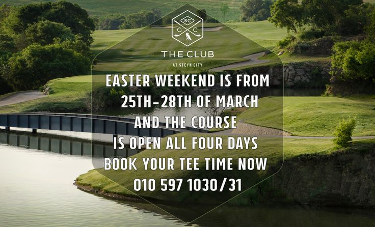 Book your tee time this Easter Weekend! Call 010 597 1030/31
