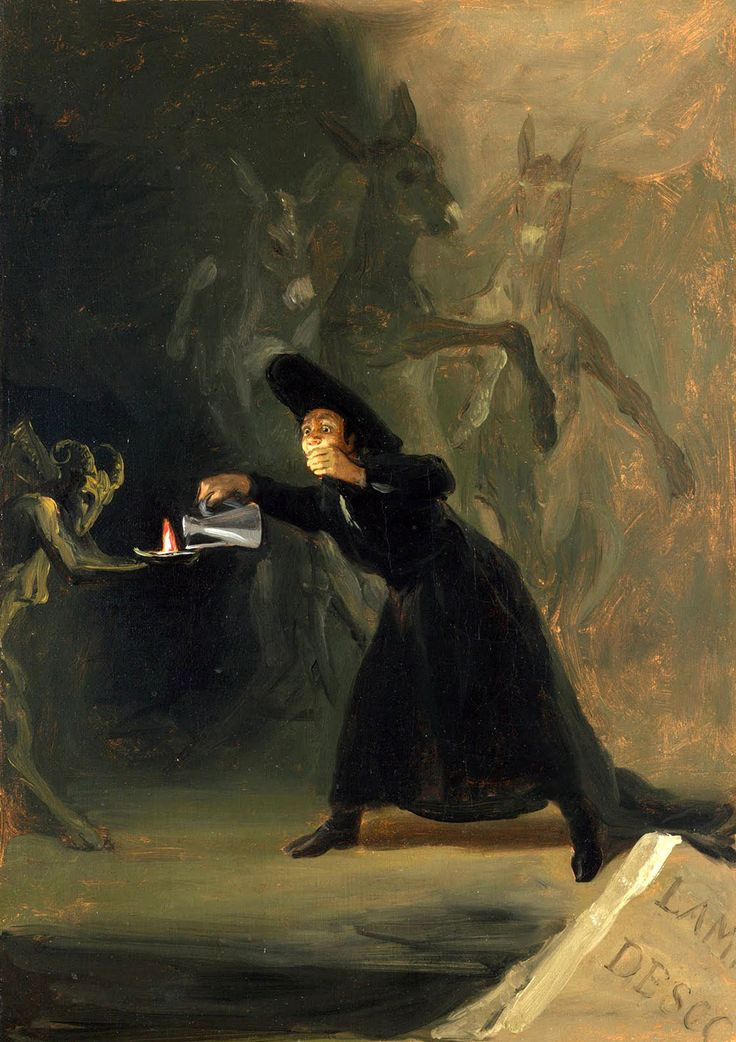 Francisco Goya The Forcibly Bewitched'den Bir Sahne / A Scene from The Forcibly Bewitched 1798. Tuval üzerine yağlıboya. 42.5 x 30.8 cm. The National Gallery, London.