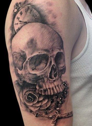 ... Tattoos on Pinterest   Catholic tattoos, Tattoo ideas and Half sleeve  Rose Tattoos For Men Sleeve