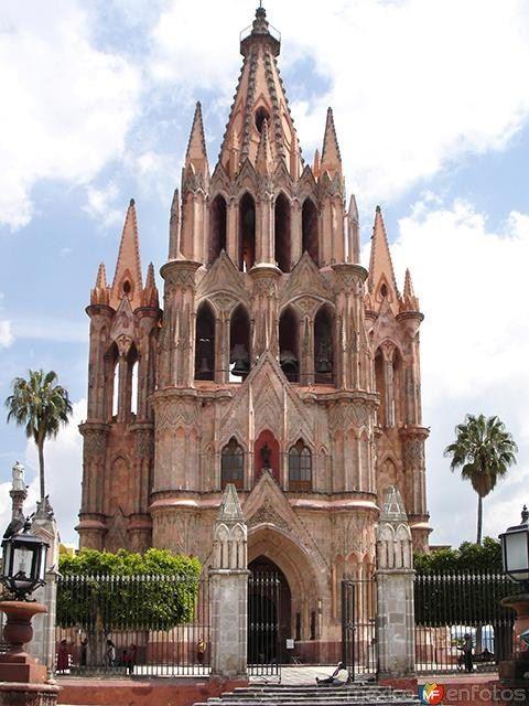 Parroquia de San Miguel de Allende, Guanajuato, México.
