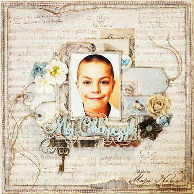 CraftHobby Oliwiaen: Mój chłopczyk / My Boy- layout 30x30