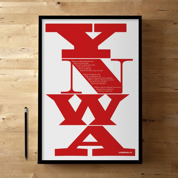 Liverpool FC YNWA Football / Soccer Posters and Prints by DINKIT, £30.00