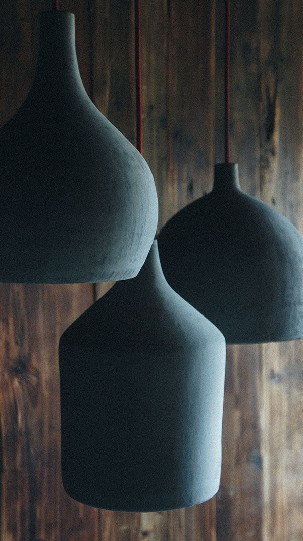 Concrete pendant  lamps by namuh