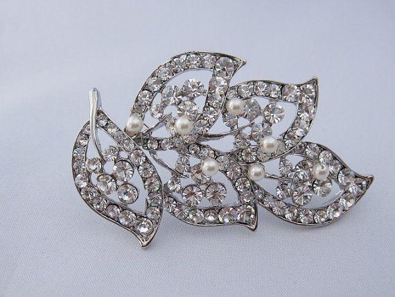 Crystal bridal brooch pin,rhinestone wedding brooch,wedding dress brooch,bridal belt brooch,wedding sash brooch,bridesmaid gift,wedding comb on Etsy, $29.00