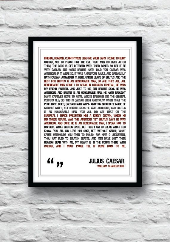 an analysis of the character marc antony in julius caesar a play by william shakespear Dramatis personae / julius caesar / calpurnia, wife of caesar / octavius, after the death of julius caesar / mark antony, after the death of.