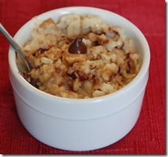 Make porridge and add 2 tsp PB, 2 tsp honey and 1 Tbsp choc chips for a special treat