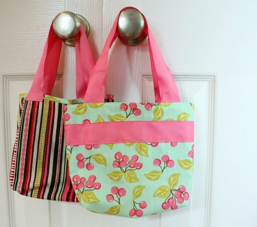I am thinking of sizing down this bag proportionate to my little girl :)  A bag to match her birthday dress!