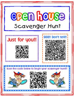 Back to School QR Code Scavenger Hunt! Cool tutorial for how to make your own. Kids hunt for codes that lead them to fun facts about their new class and teacher.