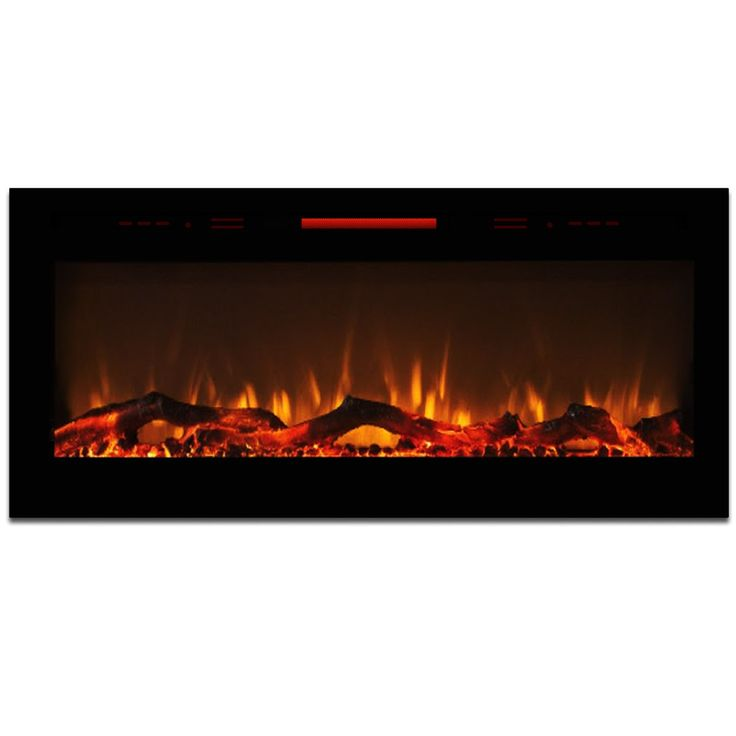 """Elite Flame 50"""" Fusion Log Built-in Smokeless Wall Mounted Electric Fireplace"""