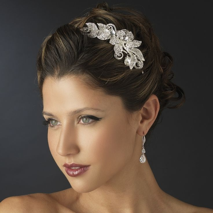 Affordable Elegance Bridal - Dazzling Floral Side Accent Wedding Headband, $94.99 (http://www.affordableelegancebridal.com/dazzling-floral-side-accent-wedding-headband/)