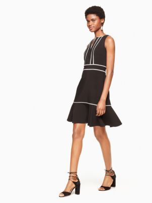 lace inset crepe dress | Kate Spade New York
