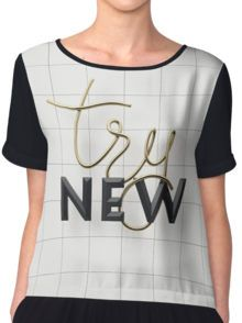 Try New Women's Chiffon Top #design #typography by aleksgusakov
