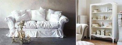 большой диван в стиле шебби