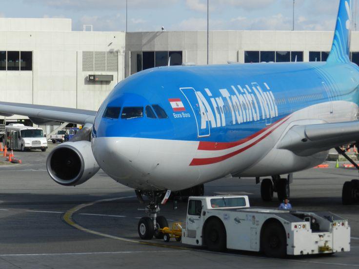 Air Tahiti Nui flight to Papeete