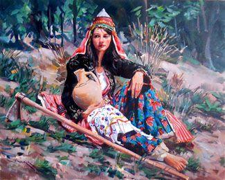 Ressam bekir üstün yağlıboya tabloları