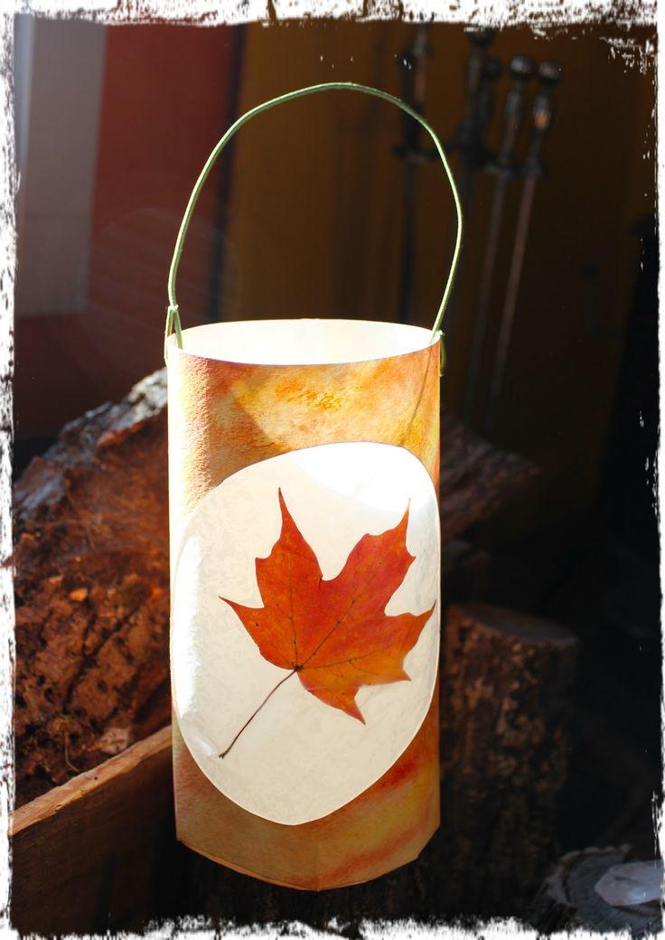 River Bliss: Savoring Light: Leaf Lantern Tutorials