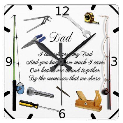 DAD QUOTE SQUARE WALL CLOCK - quote pun meme quotes diy custom