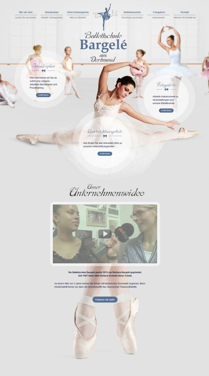 So beautiful and elegant....the website of ballet school Bargelé.  This website has won an international communicator award in NY: http://www.euroweb.de/en/press/nine-international-awards-for-websites-designed-by-euroweb