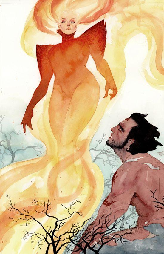 Dark Phoenix and Wolverine by kevinwada.deviantart.com on @deviantART