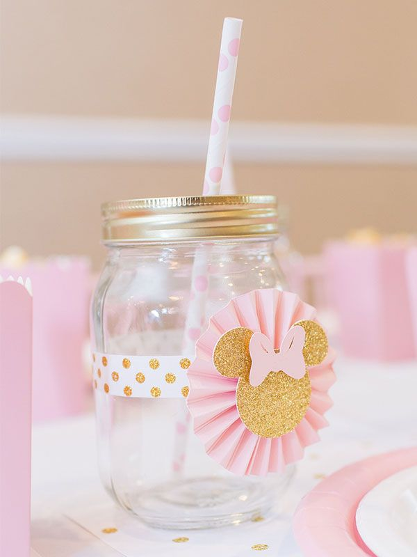 Decoracion Minnie Gold ~   Gold Minnie Mouse Party by Lysi  Pinterest  Minnie Mouse, Gold Mason