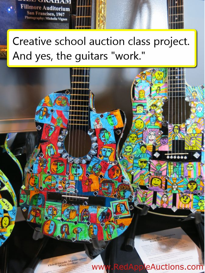 Got a rock-n-roll theme (or really, any musical theme) for your school auction? Here's a creative class project to go along with it.  For other class project ideas, check out this DVD:  http://www.redappleauctions.com/benefit-auction-webinars/school-auction-themes-centerpieces-and-decor/