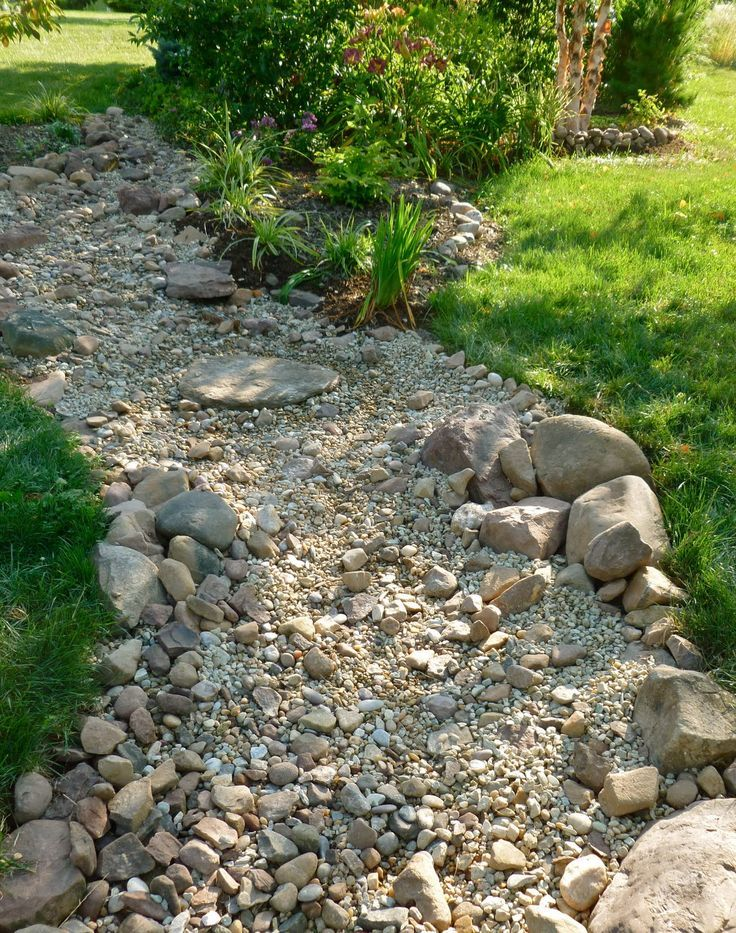 DIY Dry Creek Beds • Wonderful Ideas and Tutorials! Including, from 'my weeds are very sorry', great tips on stone placement.