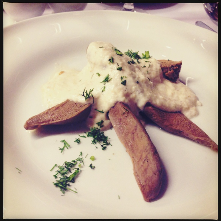 Veal tongue in horseradish cream @ Restauracja Warszawa Wschodnia