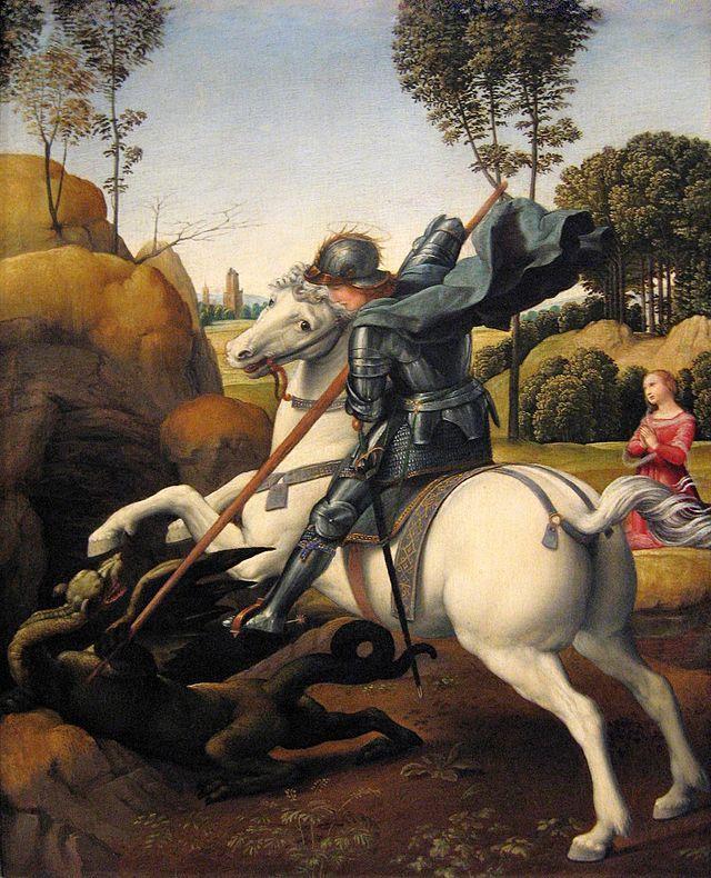 Raphael - Saint George and the Dragon - Anexo:Obras de Rafael Sanzio - Wikipedia, la enciclopedia libre