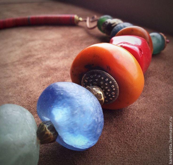 Купить Бусы КОРАЛЛЫ - ярко-красный, образ, радость, тепло, дизайнерские украшения, коралл, янтарь