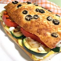 California Grilled Veggie Sandwich - We eat this all the time.  I usually grill the veggies on the George Forman or even cook them in a skillet to cut down on time. Don't skip making the garlic/lemon mayo.  It's a family favorite.