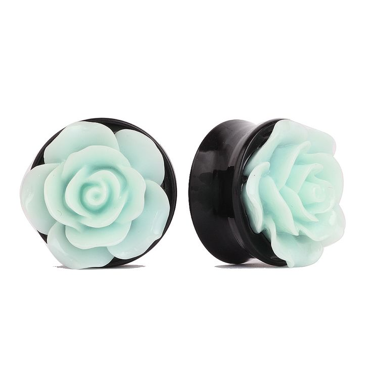 SWANJO 3D Rose Flower Acrylic Ear Plugs And Tunnels Expander Piercing Gauges Piercing Stretcher Body Piercing Jewelry