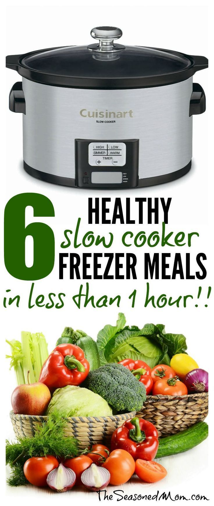 6 healthy slow cooker freezer meals in less than 1 hour