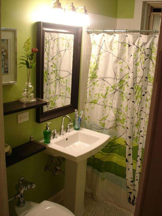 217 best green bathroom images on pinterest for Green and brown bathroom set