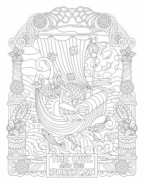 Owl And The Pussycat Coloring Page