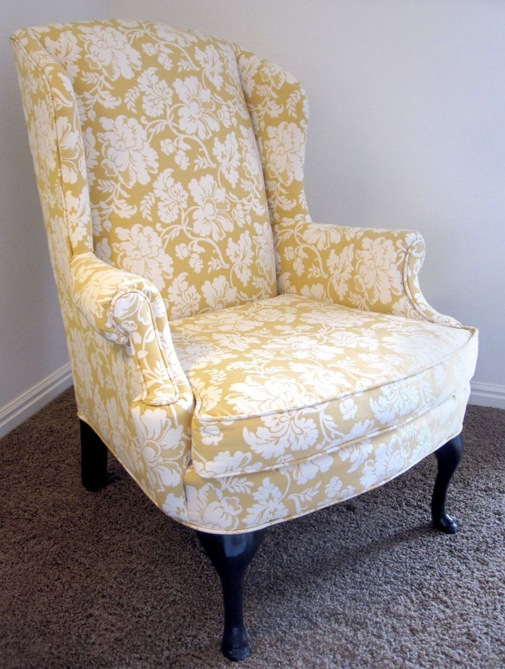 Furniture. chic yellow white chair cover for wingback chair on grey shag rug. Astounding Chair Covers For Wingback Chairs As The Different Seat Sense