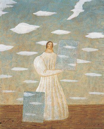 「雲のフーガ」1982年 有元利夫 Toshio Arimoto
