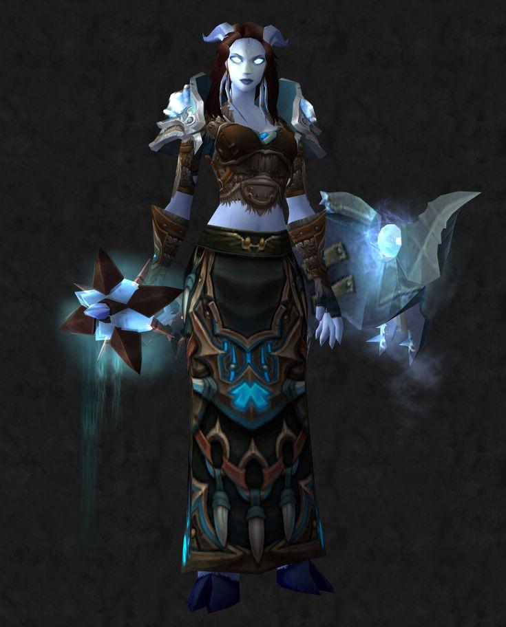 Draenei Shaman Female Awesome World of Warcraft Weapons online
