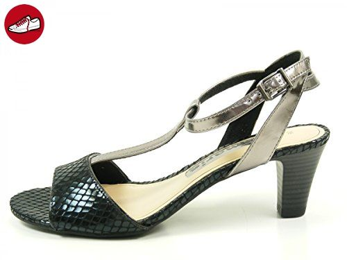Tamaris Damen Sandaletten Schwarz/Bronze, Schuhgröße:EUR 39 (*Partner-Link)