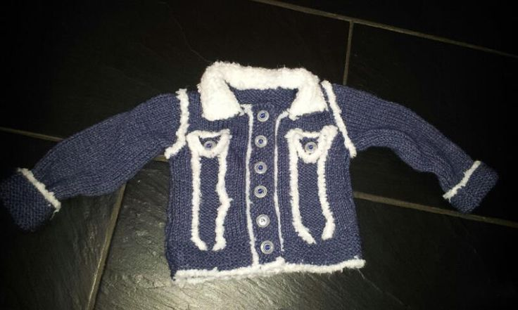 knitted baby jacked