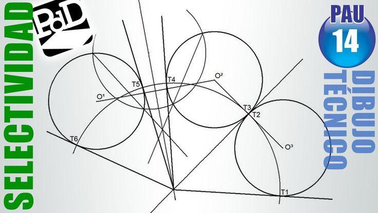 Hallar el CENTRO RADICAL de las 3 circunferencias dadas y hallar las RECTAS TANGENTES a las circunferencias desde él