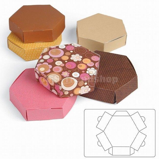 Sizzix Bigz L Die - Box Hexagon - Stanzschablone Sechseck-Schachtel,
