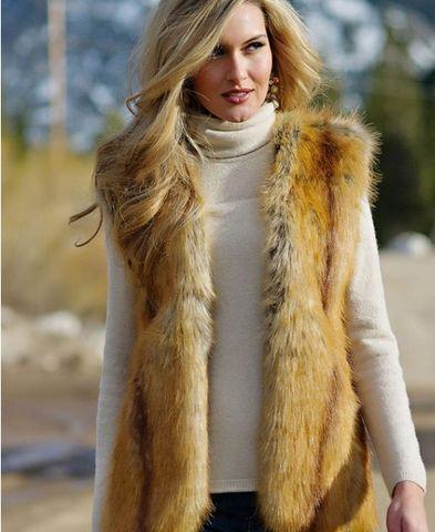 Fur Vest longhaired Outdoor Large Size Bras
