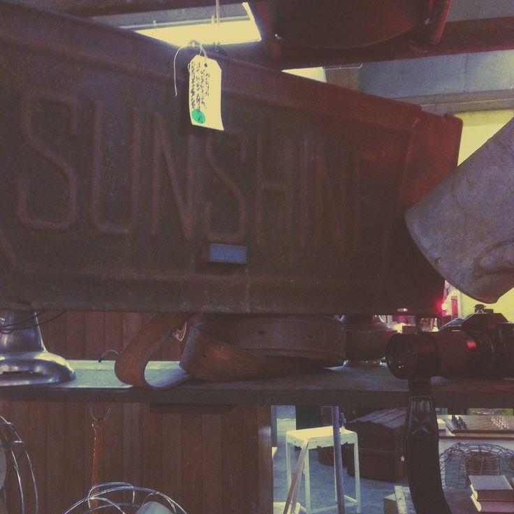 A rare and vintage SUNSHINE sign at MRE.