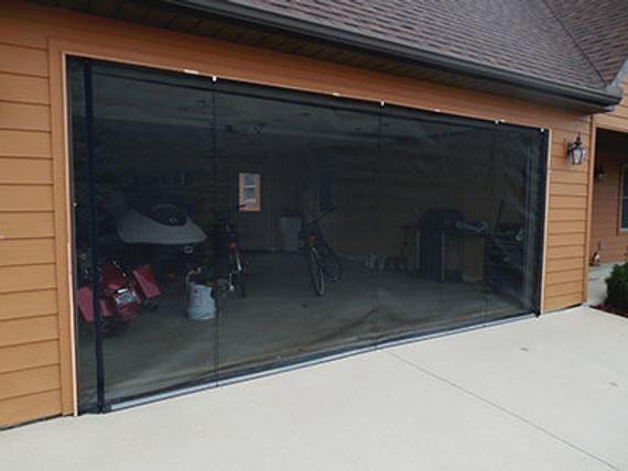 Zip Roll Brand 15x7 Garage Door Roll Up Screen In 2020 Roll Up Garage Door Garage Doors 16x7 Garage Door