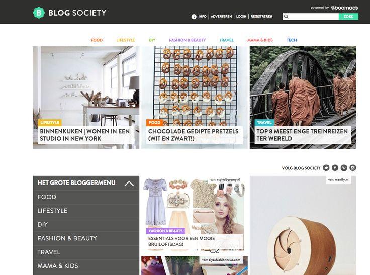 http://blogsociety.telegraaf.nl/ Een community voor bloggers en voor fans van bloggers. De leukste en beste blogs van 't land, verzameld op één plek. Door de Telegraaf Media Groep, dus met een commerciële insteek. Haal hier je 'keurmerk' en go pro!