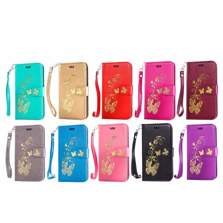 For LG G3 Mini Case Bronzing Gild Butterfly PU Leather Case Flip Stand Case For LG G3 MINI F470 D725 D728 Case and Card Holder