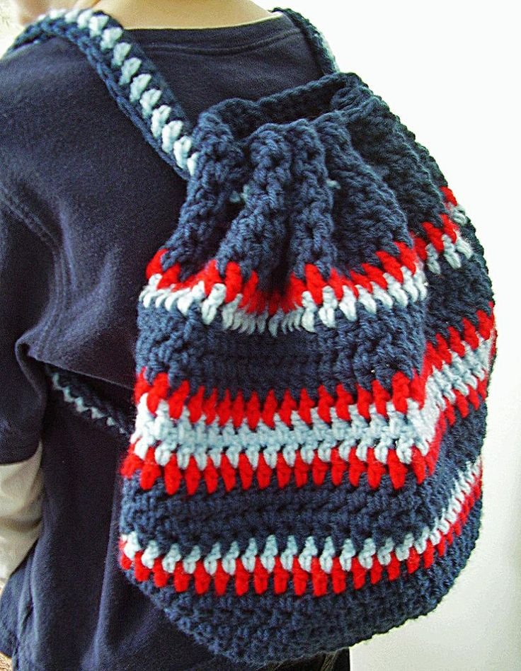 Vanessas Values: Shoe Boxes for Boys: Crocheted Backpack (Free Pattern ...